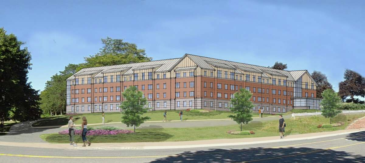 rendering of proposed dorms at HVCC