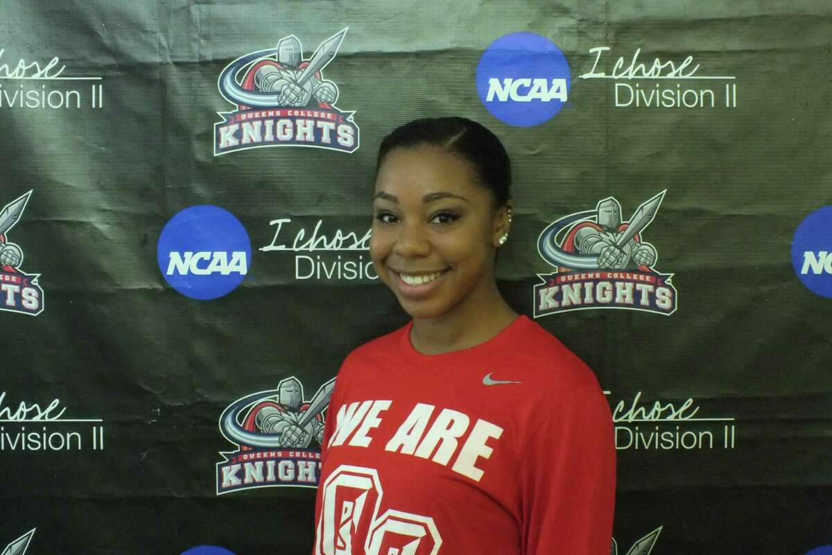 Shaker High graduate Madison Rowland of Queens College's women's basketball team. (Queens College sports information)