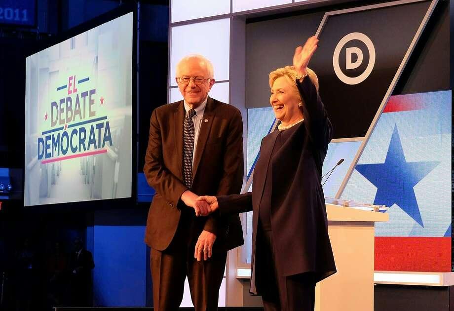 Democratic presidential candidates Bernie Sanders and Hillary Clinton. Photo: GASTON DE CARDENAS, AFP/Getty Images