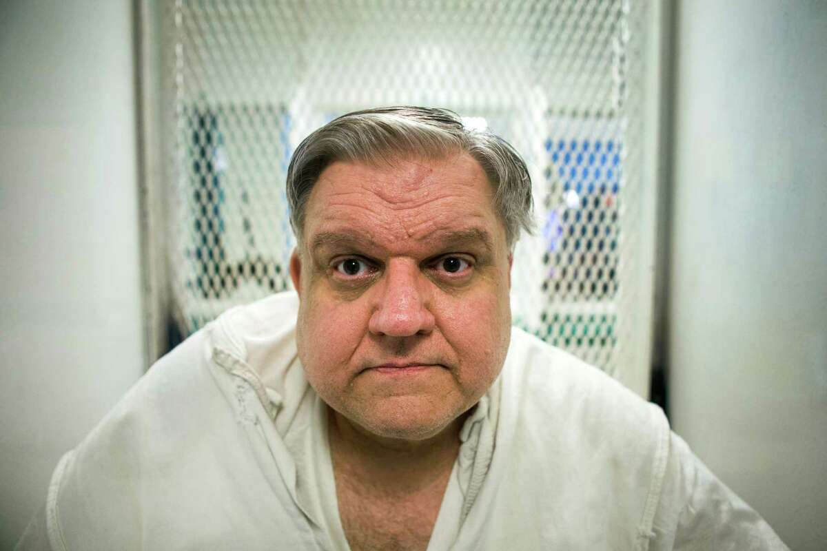Coy Wayne Wesbrook sits in a visitation cell at the Texas Department of Criminal Justice Polunsky Unit on Wednesday, Feb. 24, 2016, in Livingston. Westbrook is on Death Row for the 1997 shooting death of his ex-wife and three other men. ( Brett Coomer / Houston Chronicle )
