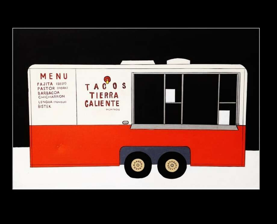 Artist Ashley Ward is selling a print of her painting of the Tacos Tierra Caliente taco truck to help the family that owns the truck pay medical expenses related to a death in their immediate family.Click through to see more of Ward's Houston-centric artwork... Photo: Courtesy Of Ashley Ward