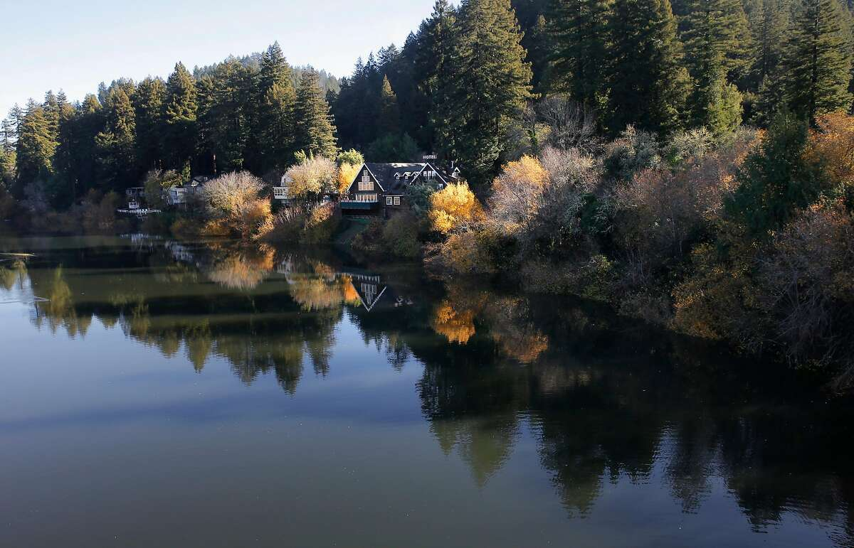 Homes dot the banks of the Russian River in Monte Rio, Calif., on Friday December 11, 2015. The lower Russian River area (Guerneville, Monte Rio, Hacienda et al) is better prepared for flooding today than it was in 1997, the last time a big El Nino flood hit.