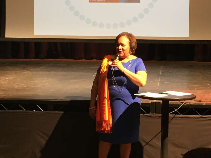 Juanita T. James, president and CEO of Fairfield County's Community Foundation, kicks off the Fairfield County's Giving Day launch party on Thursday, March 10, 2016. Click through to see the top 20 recipients from the fundraiser.