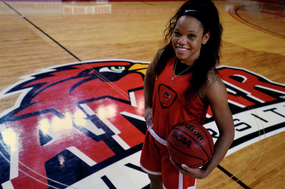 Lamar women's basketball guard Chastadie Barrs poses for a portrait, Tuesday, March 8, 2016.  Photo taken Tuesday 3/8/16 Ryan Pelham/The Enterprise Photo: Ryan Pelham Ryan Pelham / ©2016 The Beaumont Enterprise/Ryan Pelham