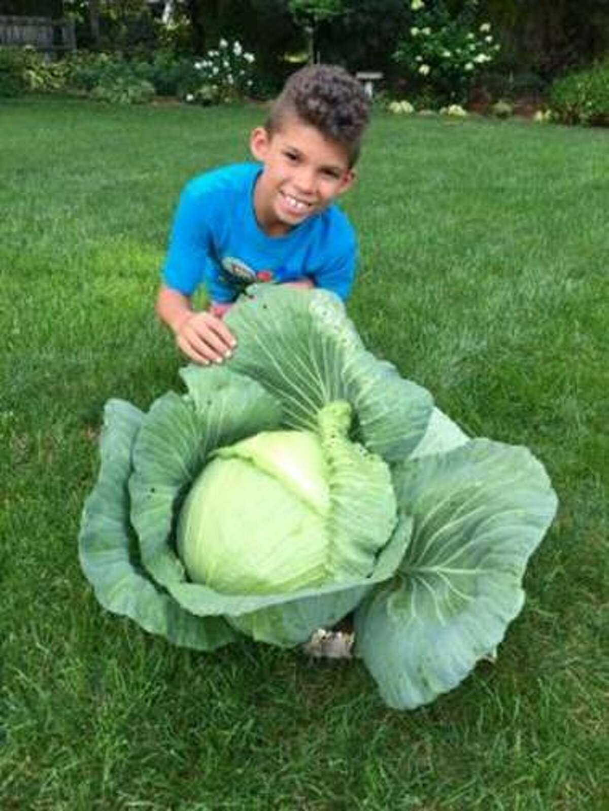 Louis Hawkins III, a student at Thomas W. Mahan Elementary School, grew a beautiful, HUGE cabbage (13 lbs!). Louis will receive a $1,000 saving bond towards education from Bonnie Plants.