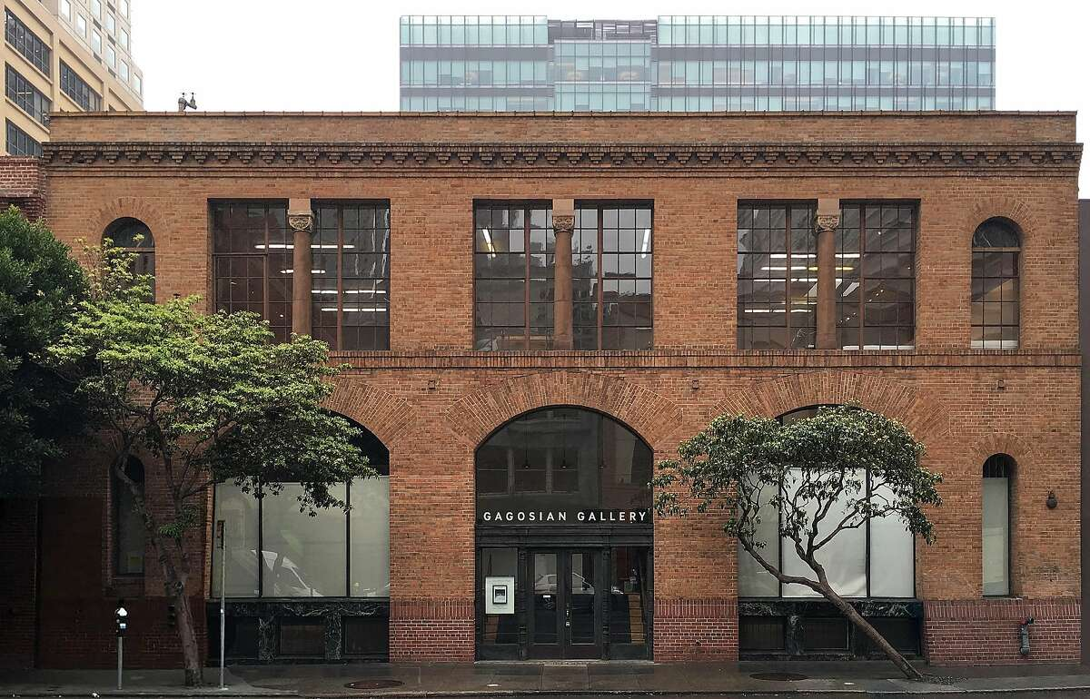 Storefront of the new Gagosian Gallery San Francisco at the historic Crown Point Press Buillding on Howard Street.