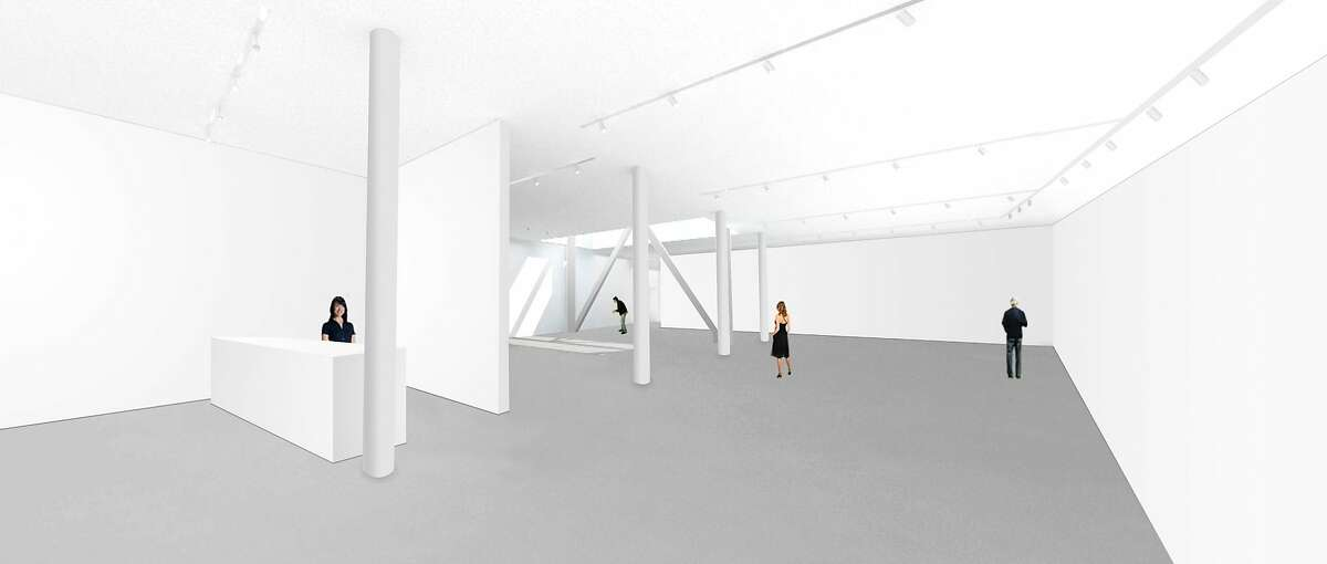 A rendering of the new Gagosian Gallery San Francisco