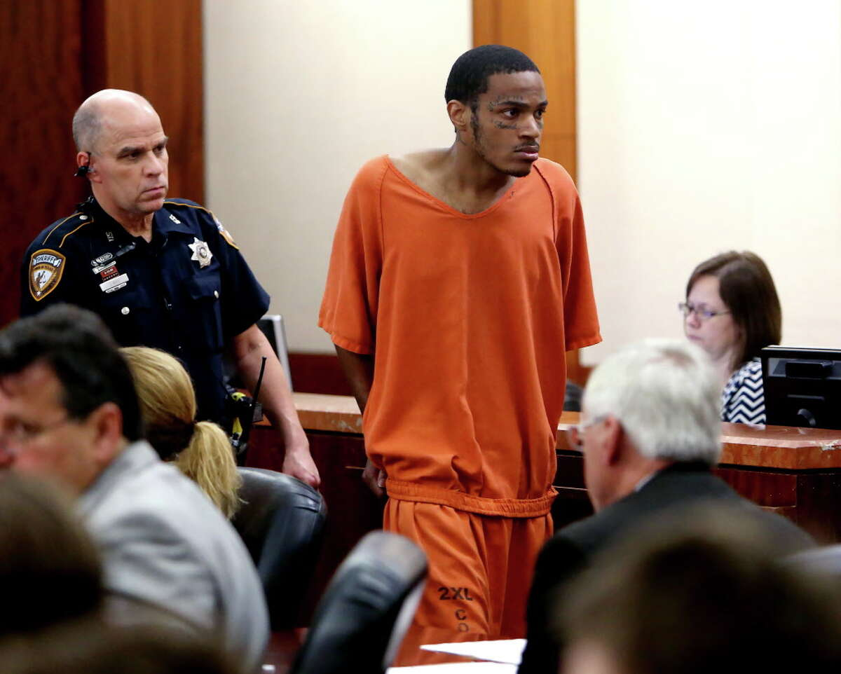 Taylor was charged with capital murder in the shooting death of Peter Mielke. He's shown in court in early March.