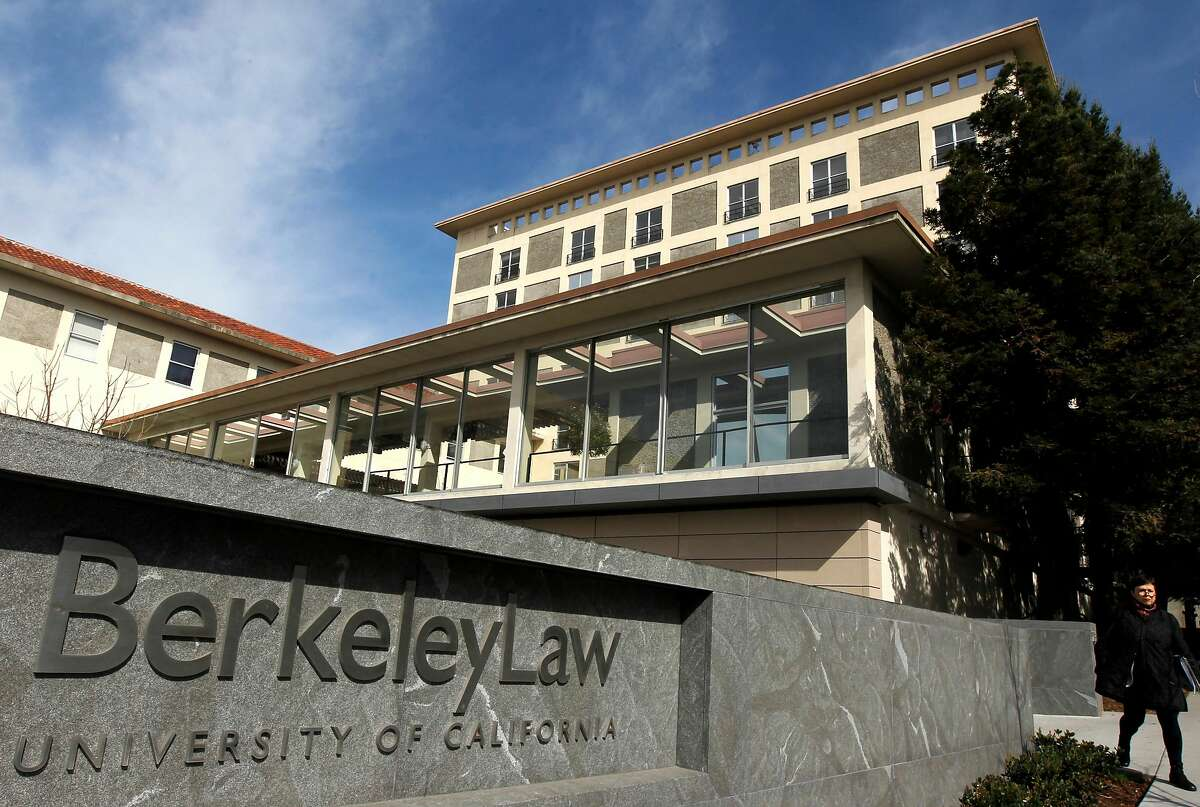 The main entrance of the newly-expanded UC Berkeley School of Law is seen on Tuesday, Feb. 21, 2012.
