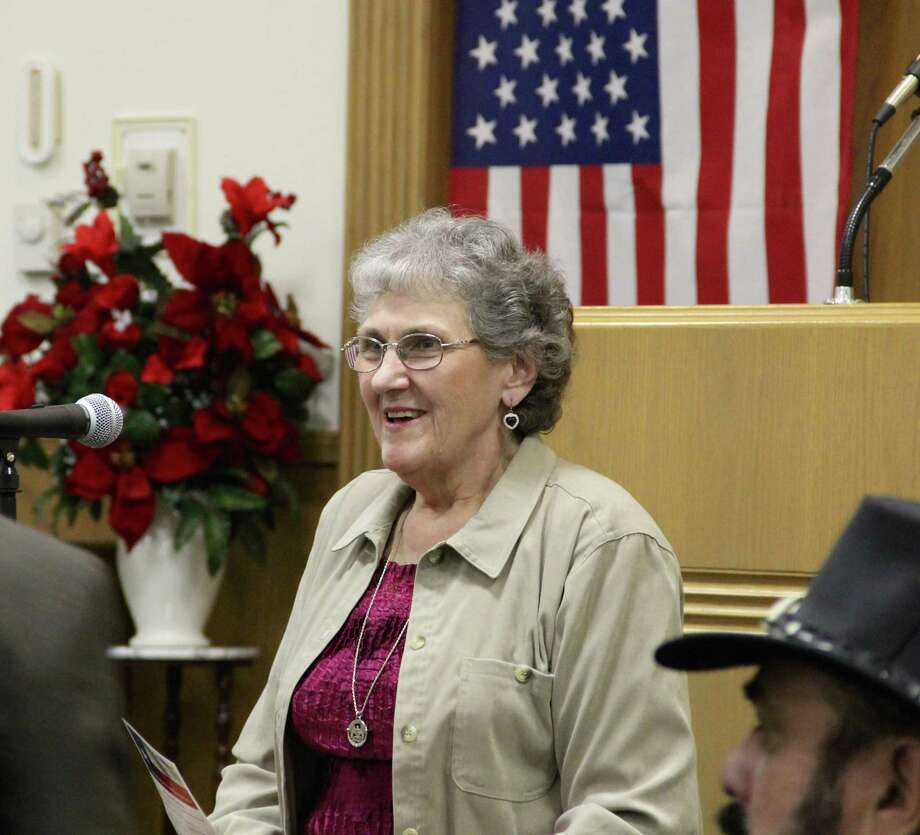 Mary Lou Bruner, candidate for State Board of Education, District 9, speaks at a Canton Tea Party candidate forum on Jan. 11, 2016, at the Church of Christ on Big Rock in Canton. Photo: Rachel Rutledge/Northeast Texan