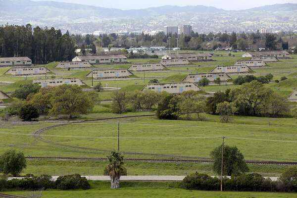 """So-called """"bunker city"""" in the Concord Naval Weapons Station in Concord, California, on Thursday, March 10, 2016."""