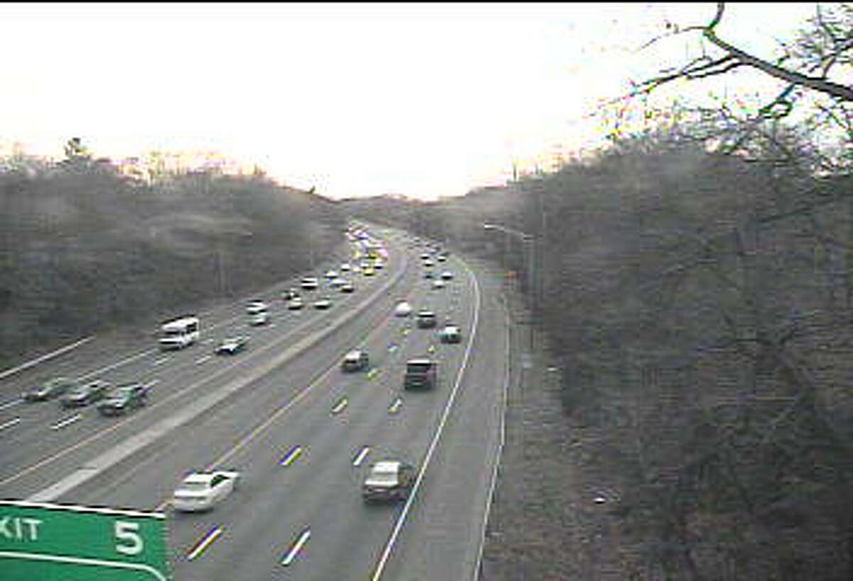 This traffic camera photo shows congestion early in the Thursday evening commute.