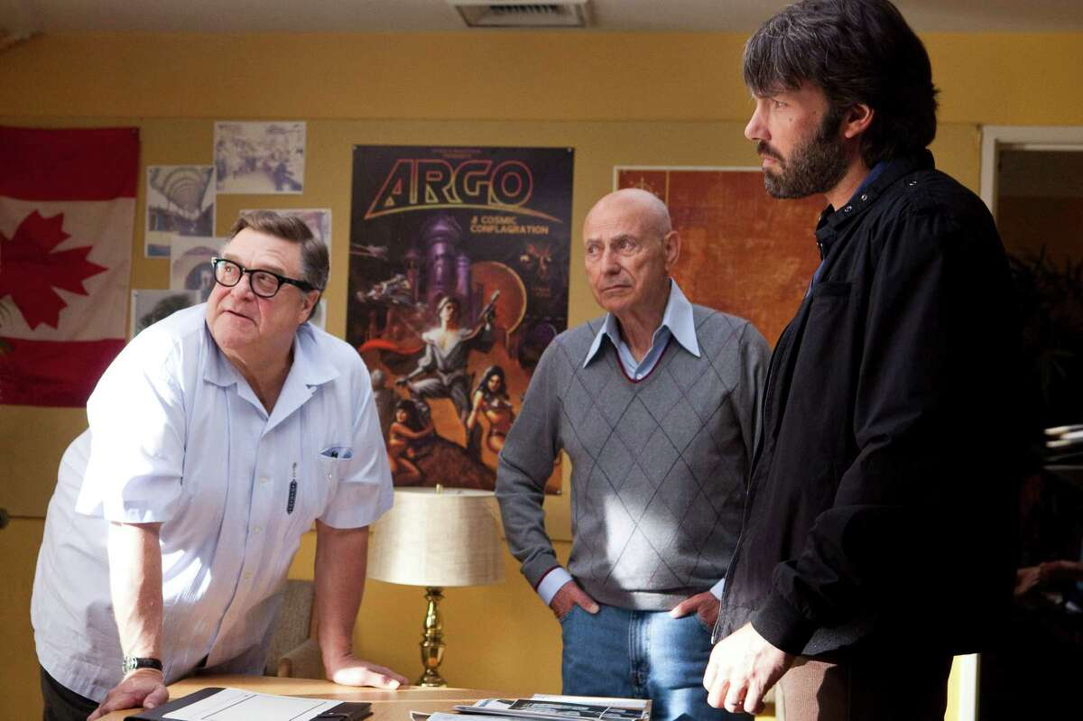 Claire Folger/Warner Bros. PIctures (L-r) JOHN GOODMAN as John Chambers, ALAN ARKIN as Lester Siegel and BEN AFFLECK as Tony Mendez in ?ARGO,? a presentation of Warner Bros. Pictures in association with GK Films, to be distributed by Warner Bros. Pictures.