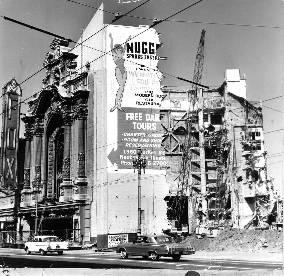 Fox Theater, Market Street, San Francisco,  being demolished, June 6, 1963. Photo: Photographer Unknown, The Chronicle