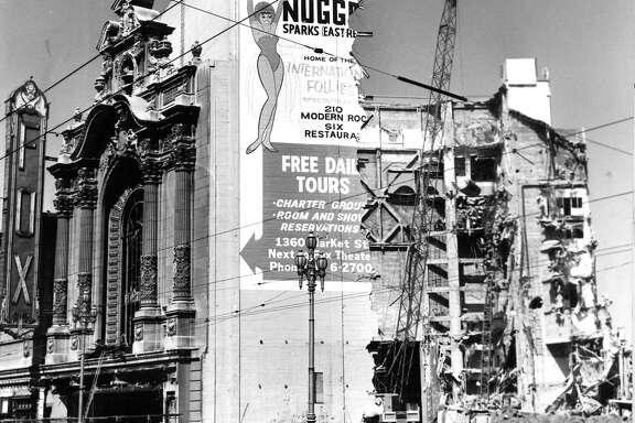 Fox Theater, Market Street, San Francisco,  being demolished, June 6, 1963.