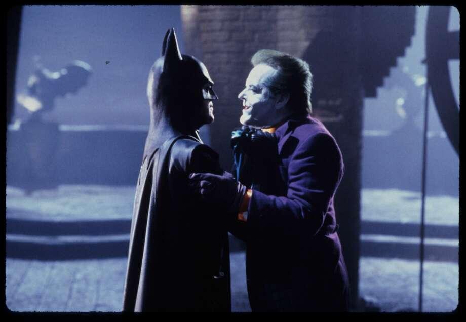 Michael Keaton as Batman, Jack Nicholson as Joker in Batman, 1989 DC Comics. Photo: Warner Bros.