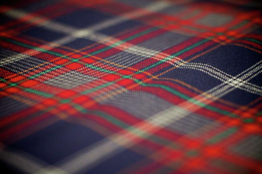 There will be plenty of tartan designs to see during the Tartan Day Parade in New York City on April 9, but the parade itself is the inspiration behind this tartan, designed by well-known Scottish designer and tartan expert Brian Wilton, director of the Scottish Tartans Authority. In part, the pattern is an ode to Sixth Avenue and the scenes along it, as well as the organizations who launched the parade. Photo: Phillip Hess / Contributed Photo / Phillip Hess