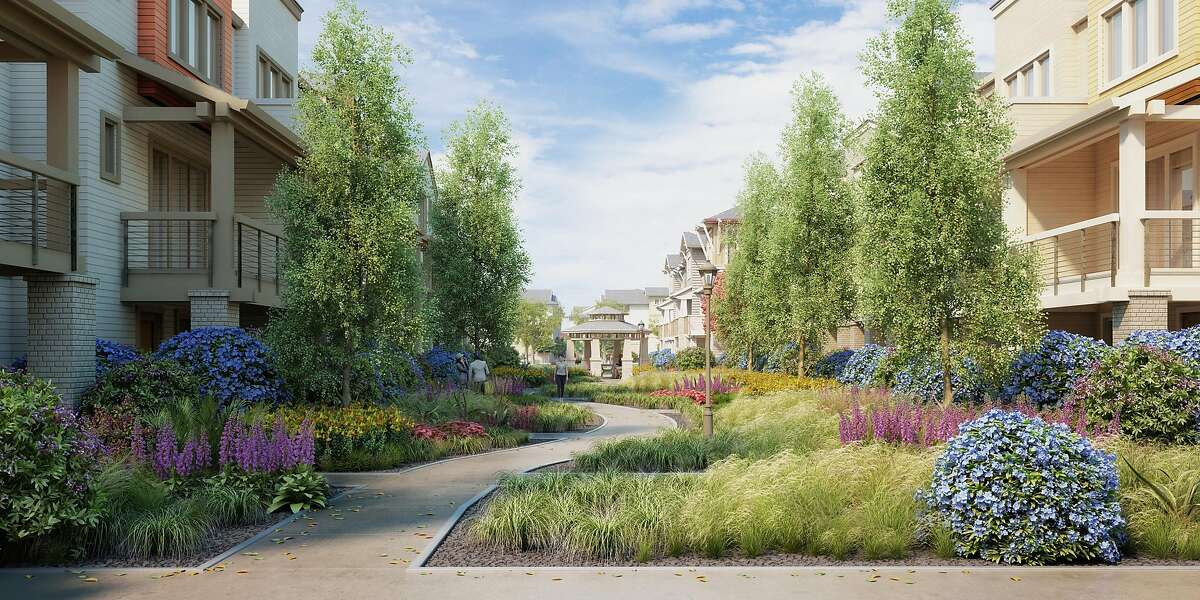 Renderings of Landsea townhome development in Sunnyvale