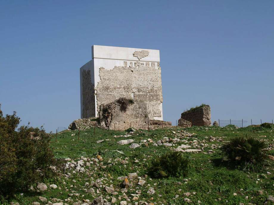 The Matrera Castle in southern Spain is pictured after its restoration. The work on the castle, perched on a ridge in the Andalusia region, has infuriated locals and provoked the ire of some conservationists. Critics of the restoration say the castle resembles a parking garage. Photo: MUSEUM OF VILLAMARTIN, HO / MUSEUM OF VILLAMARTIN
