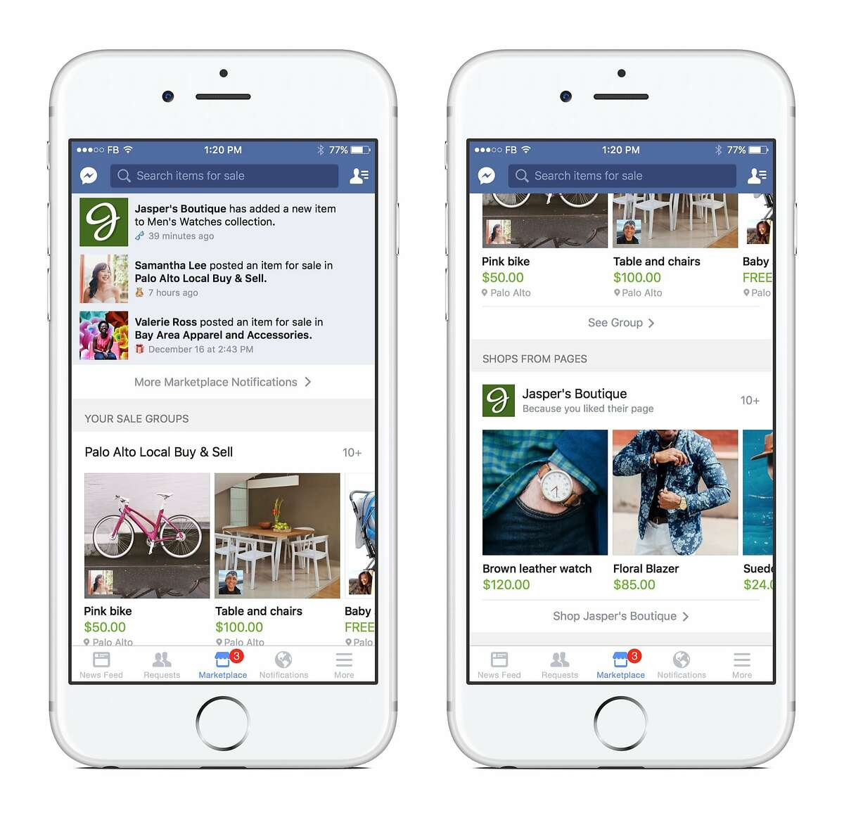 Facebook is testing a feature called Marketplace that allows some U.S. users to see items for sale on the social network. This is one of several e-commerce related features that Facebook is experimenting with.