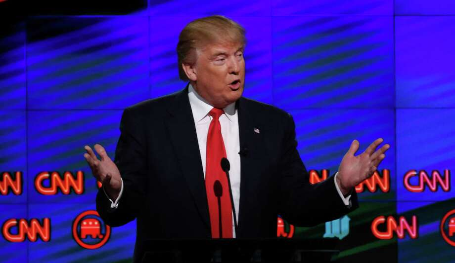 """""""I cannot believe how civil it's been up here,"""" Donald Trump said at one point during Thursday's debate. Photo: RHONA WISE, Stringer / AFP or licensors"""