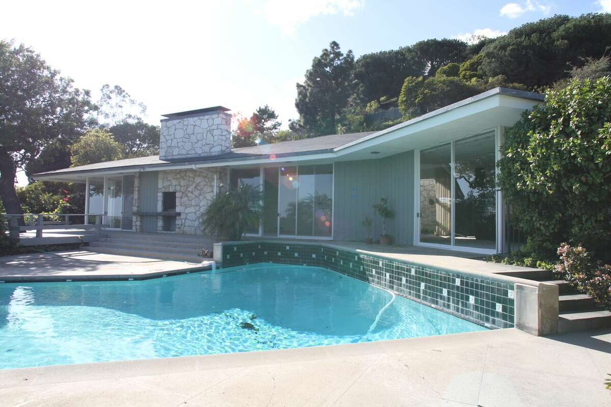 Before : Nancy and Ronald Reagan's Pacific Palisades home before it was redeveloped by Jaman Properties.