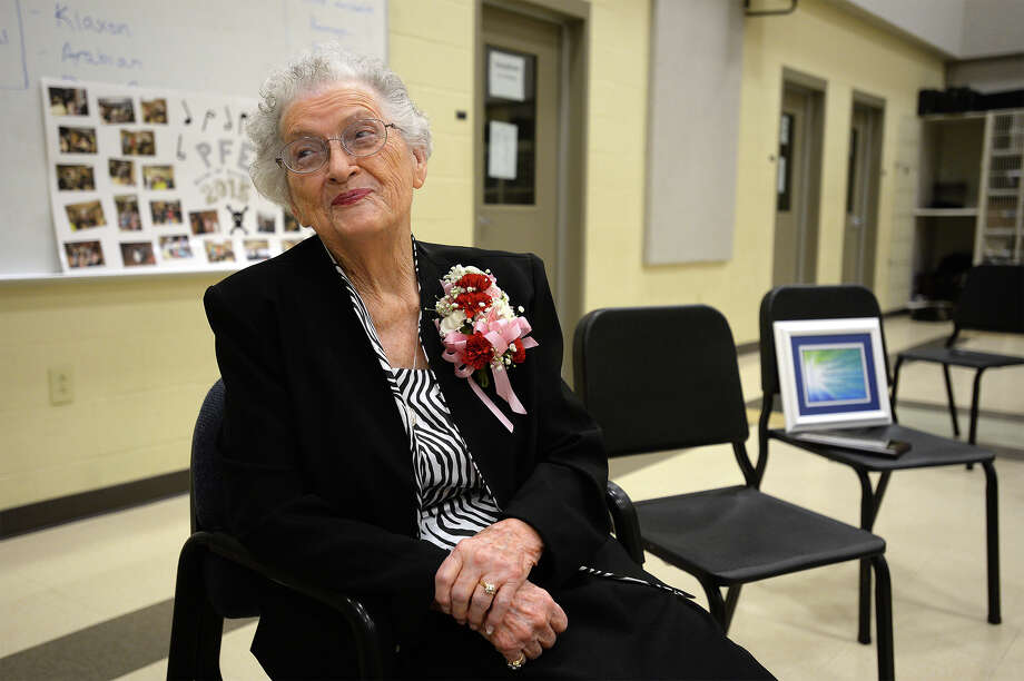 After decades of service to Vidor school students, Lavon Havens retired from the second time at the age of 92. Havens said worked as a nurse and an aid to the band department.  Photo taken Thursday, March 10, 2016 Guiseppe Barranco/The Enterprise Photo: Guiseppe Barranco Guiseppe Barra, Photo Editor
