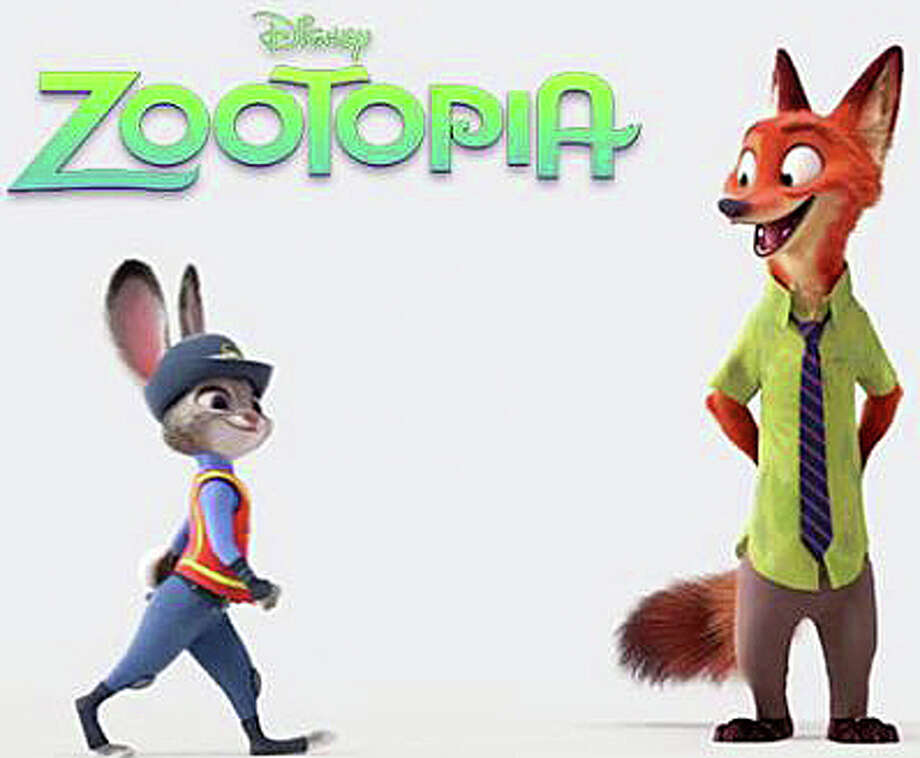 "Rabbit Judy Hopps and fox Nick Wilde are featured characters in the new animated movie, ""Zootopia."" Photo: Contributed Photo / Contributed Photo / Westport News"