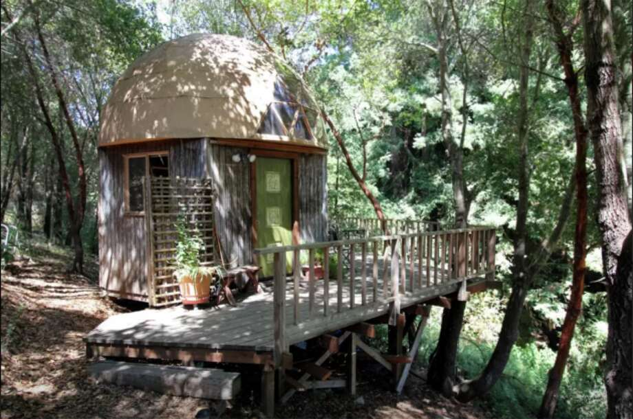 A mushroom-shaped cabin in Aptos, Calif., is the No. one rental on Airbnb, as it has the highest level occupancy of any other property in the world. Photo: Courtesy Airbnb