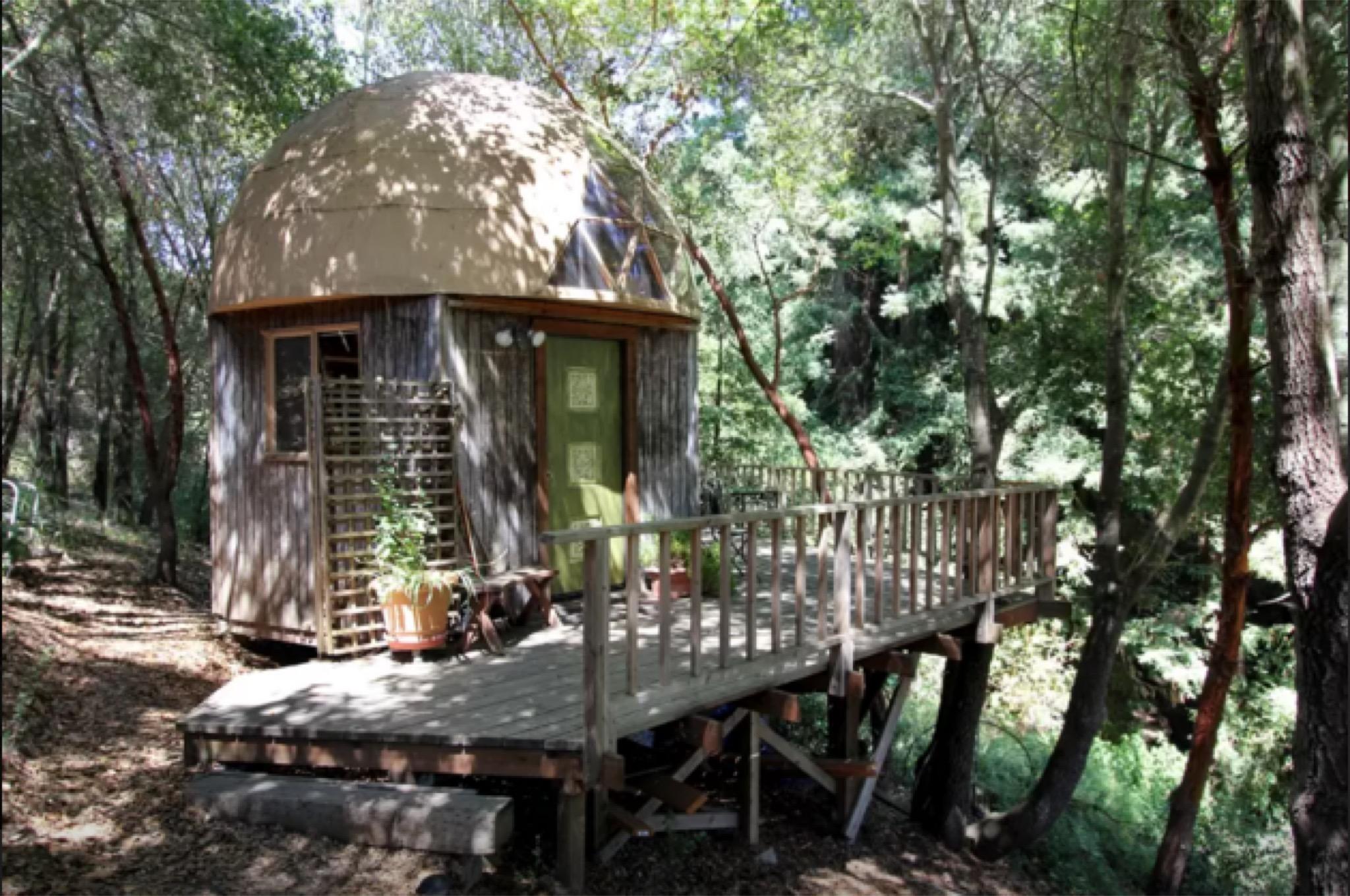Mushroom Cabin Outside Santa Cruz Is Most Popular Airbnb In The World Sfgate