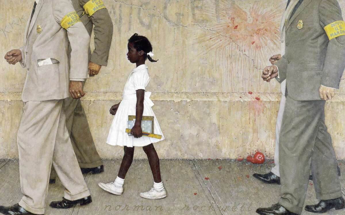 Norman Rockwell, American (1894-1978), The Problem We All Live With, 1964, signed print, story illustration for LOOK, January 14, 1964, Norman Rockwell Museum Collections.