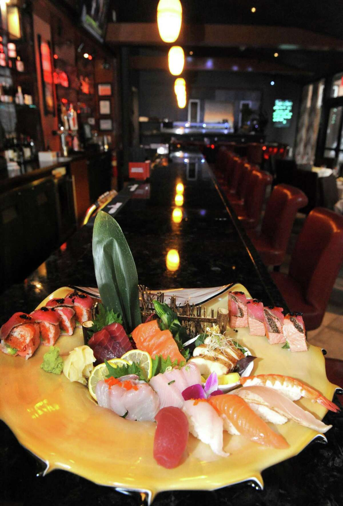 Chef's special sushi combo at Aji Steak Stone on Wednesday Feb. 24, 2016 in Albany, N.Y. (Michael P. Farrell/Times Union)