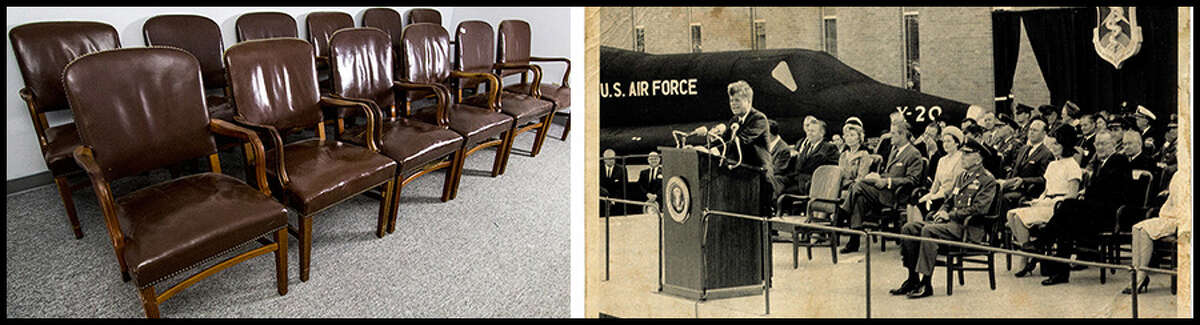 3. John F. Kennedy chairs, used at JFK's dedication ceremony at Brooks AFB the day before his assassination - Dec. 21, 1963, $2400, sold Nov. 10, 2013