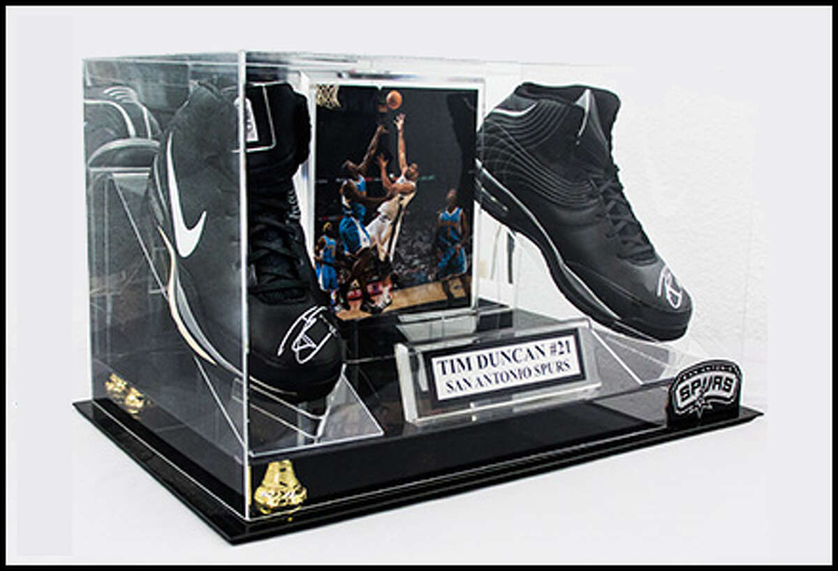 1. Signed game-worn Tim Duncan shoes, sold during the 2014 NBA Finals, $700, June 3, 2014