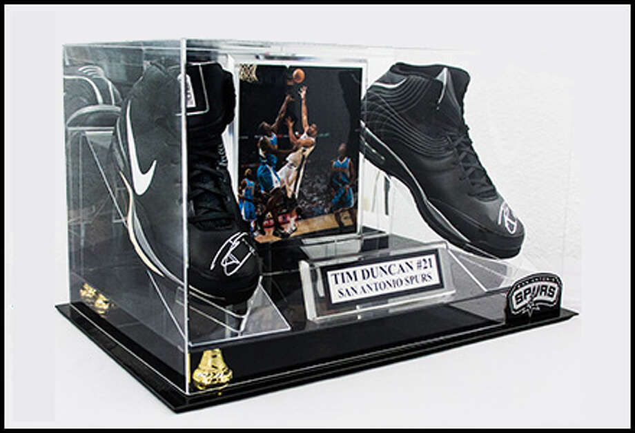 1. Signed game-worn Tim Duncan shoes, sold during the 2014 NBA Finals, $700, June 3, 2014 Photo: Vogt Auctions