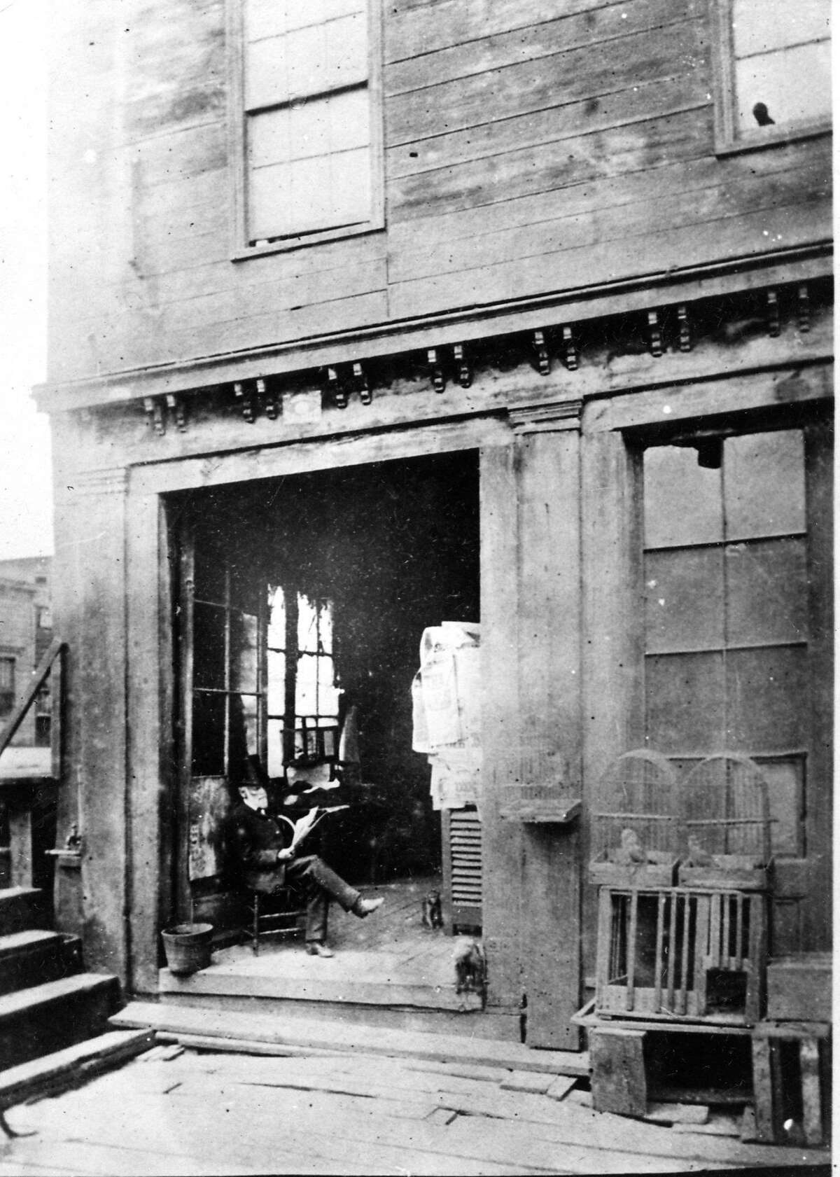 Abe Warner's Cobweb Palace on Francisco Street was one of the most popular taverns in the city in the mid-19th century, and was definitely the strangest.