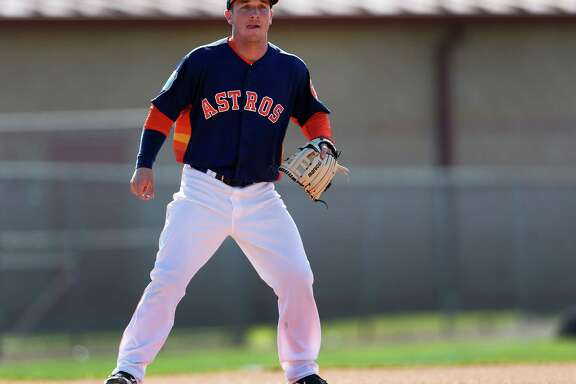 Houston Astros infielder Alex Bregman at the Astros spring training in Kissimmee, Florida, Thursday, Feb. 25, 2016.( Karen Warren / Houston Chronicle )