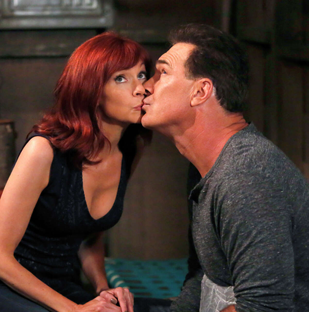 """Carrie Preston and Patrick Warburton in """"Crowded."""""""