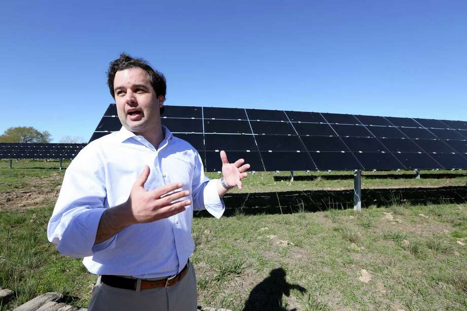 Joey Romano wants his solar farm 50 miles west of Houston to be a place where customers can see where their power comes from. Photo: Steve Gonzales Steve Gonzales / © 2016 Houston Chronicle