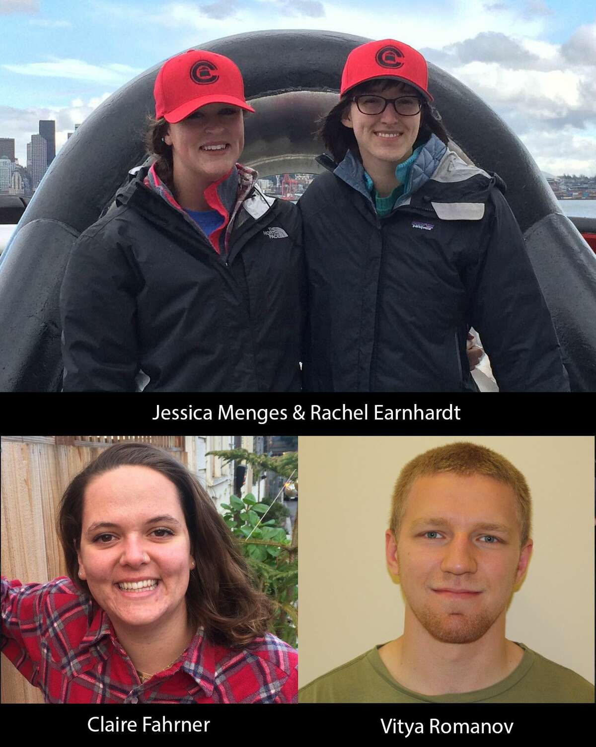 Four Williams-Mystic Maritime Studies Program students have been awarded scholarships by Crowley Maritime Corporation. Claire Fahrner, Vitya Romanov, Rachel Earnhardt and Jessica Menges were each chosen as a result of their academic excellence, morale and community involvement.