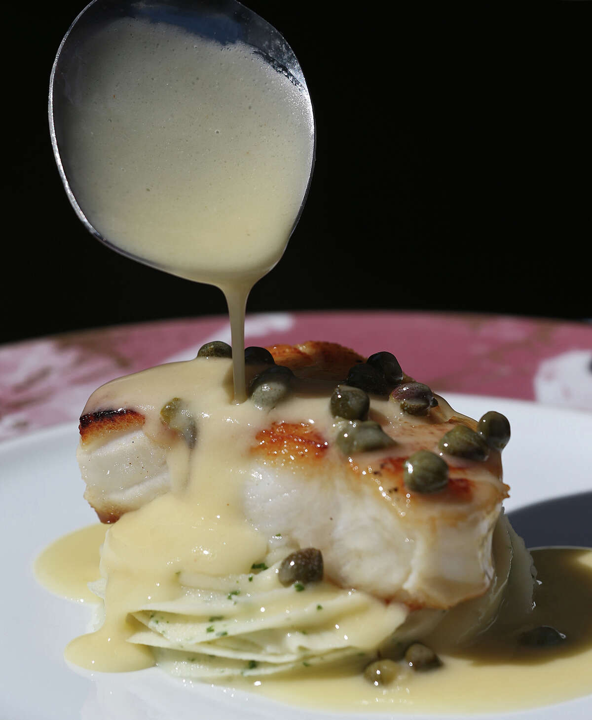 Chilean sea bass with beurre blanc sauce