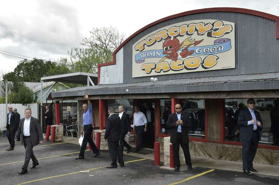 Keep clicking to take a closer look at the best tacos in Houston. US President Barack Obama waves as he steps out of Torchy's Tacos on March 11, 2016 in Austin, Texas. The Austin chain was recently named the best taco in America by Delish.com. Photo: MANDEL NGAN, AFP/Getty Images / AFP or licensors