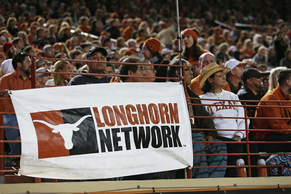 Evidence of the Longhorn Network is all around the field as Texas hosts Kansas at Royal-Memorial Stadium on Nov. 7, 2015.