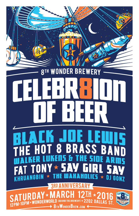 EaDo's 8th Wonder Brewery celebrates 3 years in business on Saturday, March 12, 2016.