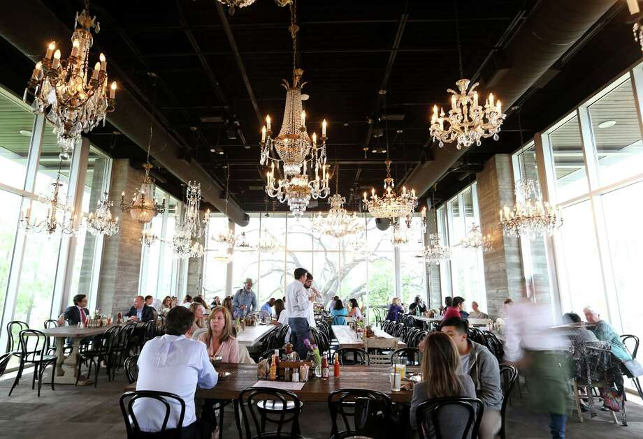 The dining area of The Dunlavy, a private events space off of Allen Parkway at Buffalo Bayou, which is opened for breakfast and lunch on Tuesday, March 8, 2016, in Houston. ( Elizabeth Conley / Houston Chronicle ) Photo: Elizabeth Conley, Staff / © 2016 Houston Chronicle