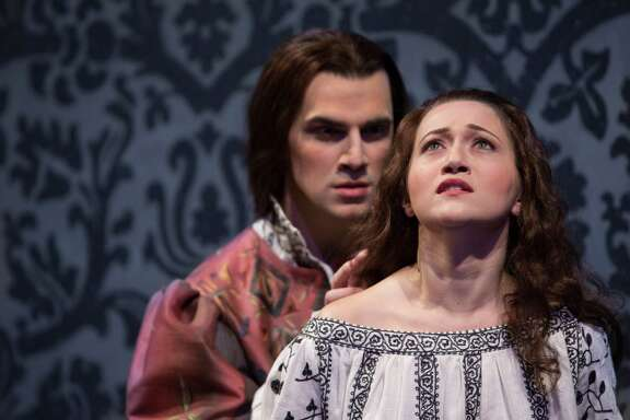 "Ben Edquist and Mane Galoyan sing the lead roles in Houston Grand Opera's production of ""Prince of Players."""