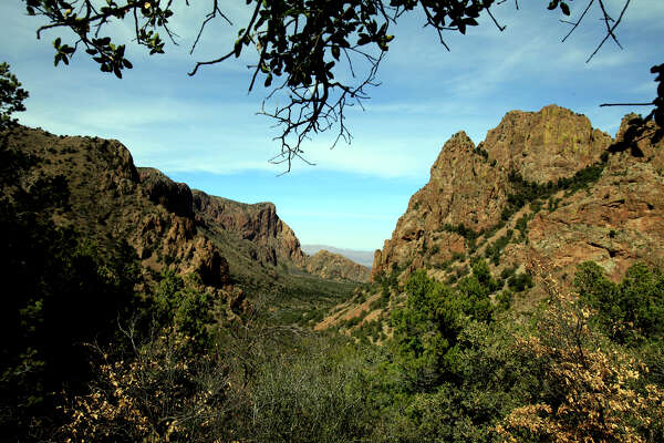 A view from the Chisos mountains in Big Bend from the Lost Mine Trail.