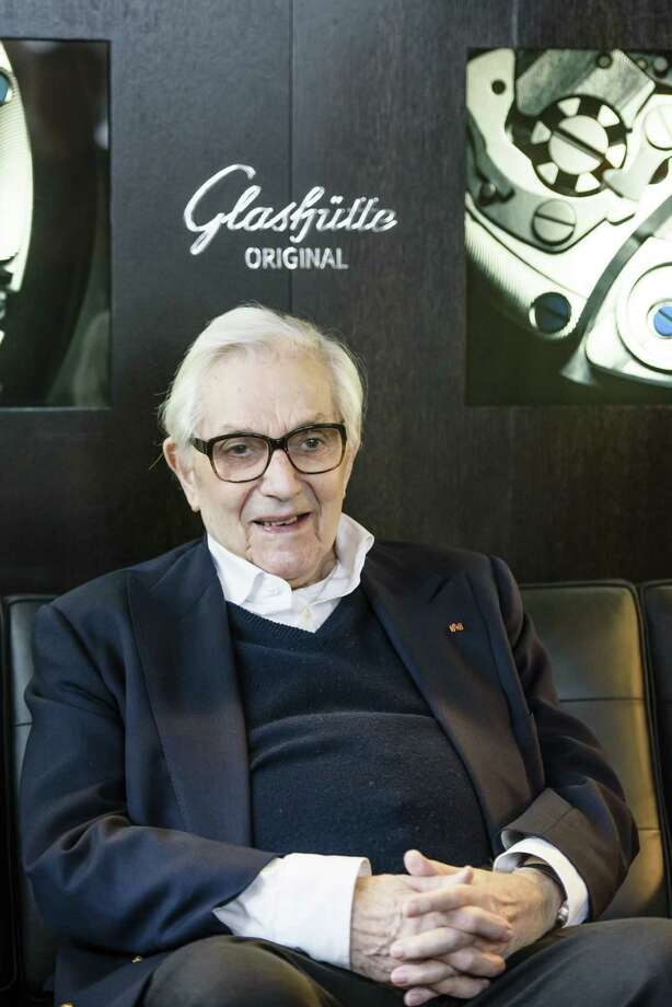 "FILE - MARCH 10: Academy Award winning Production Designer Ken Adam has died at 95 years old. Adam was known for such films as ""Dr. Strangelove,"" ""The Madness Of King George,"" and ""The Spy Who Loved Me."" BERLIN, GERMANY - FEBRUARY 09: Sir Ken Adam attends the Glashuette Originallounge for the 'Talk with Sir Ken Adam' during the 65th Berlinale International Film Festival at Kollhoff Tower on February 9, 2015 in Berlin, Germany.  (Photo by Clemens Bilan/Getty Images for Glashuette Original) Photo: Clemens Bilan, Stringer / 2015 Getty Images"
