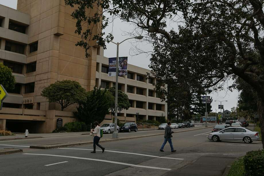 FILE-- Holloway Avenue by the San Francisco State University administration building in San Francisco, California, is seen on Tuesday, June 16, 2015. San Francisco State professor Rabab AbdulhadiShe is a frequent target of right-wing groups because of her criticism of Israel. Photo: Loren Elliott, The Chronicle