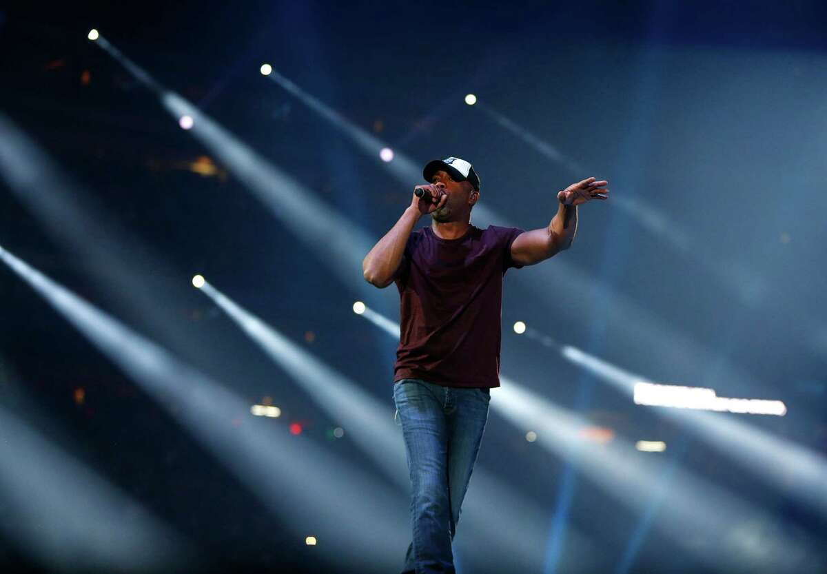 Darius Rucker performs at the Houston Livestock Show and Rodeo at NRG Stadium, Friday, March 11, 2016.